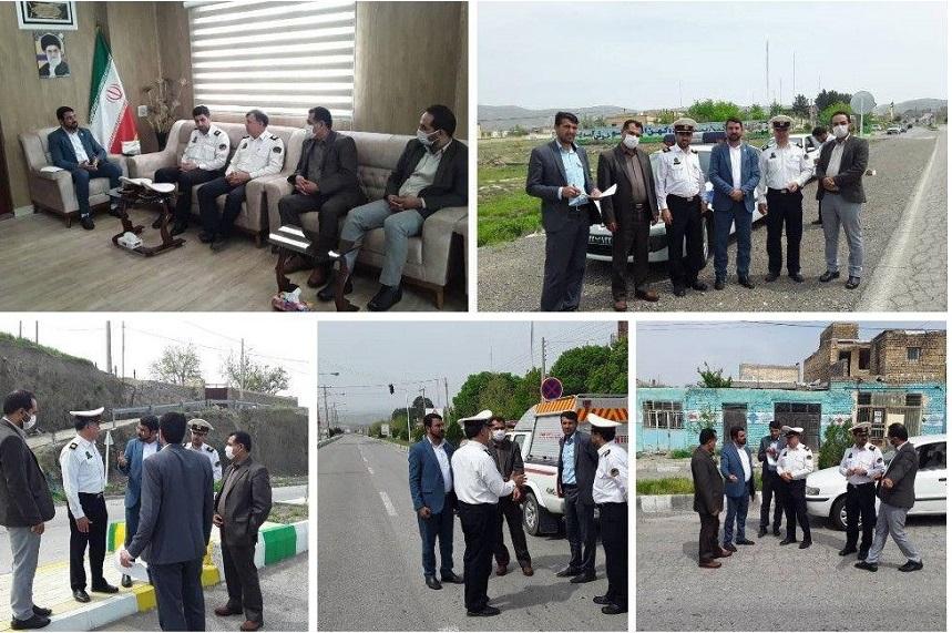 بازدید اعضای شورای هماهنگی ترافیک شهرستان سرخس از بلوار امام رضا علیه السلام شهر مزداوند