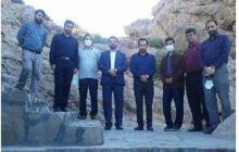 بازدید مدیر برنامه و بودجه آستان قدس رضوی از پروژه دهکده گردشگری تفریحی غار مزداوند